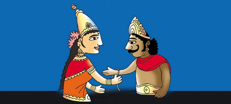 King Bali and Goddess Lakshmi