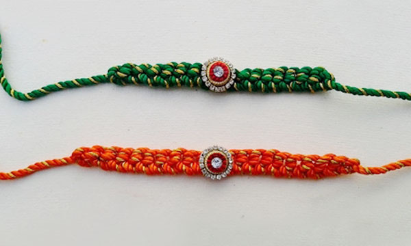 Rakhi with silk thread