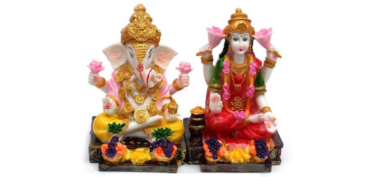 laxmi ganesh sculptures and idols